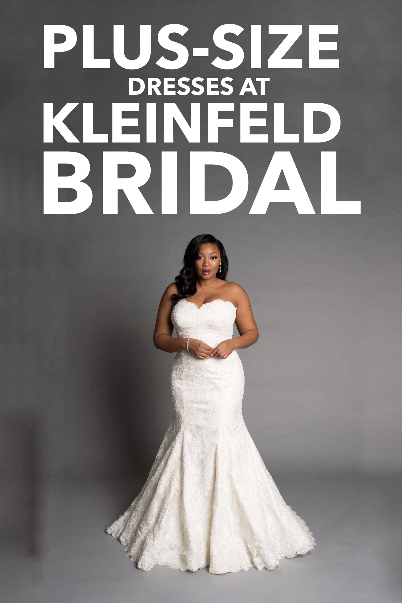 7056e15adc1 200+ dresses available in plus-size available at Kleinfeld. Designers  include Pnina Tornai