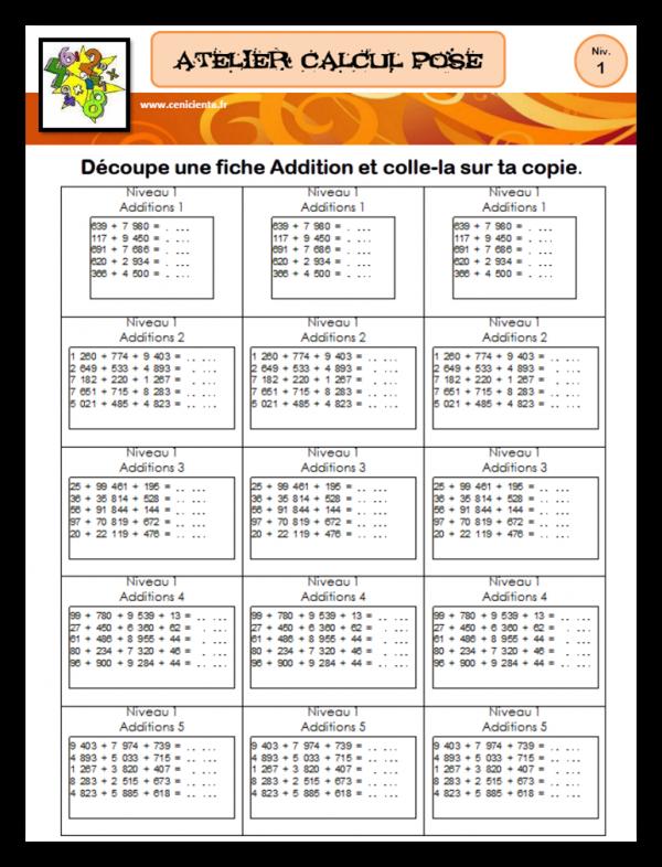 Jeux De Calcul Mental Cm1 : calcul, mental, Ateliers, Mathématiques, Calcul, Posé, Mental, Mental,, Calcul,