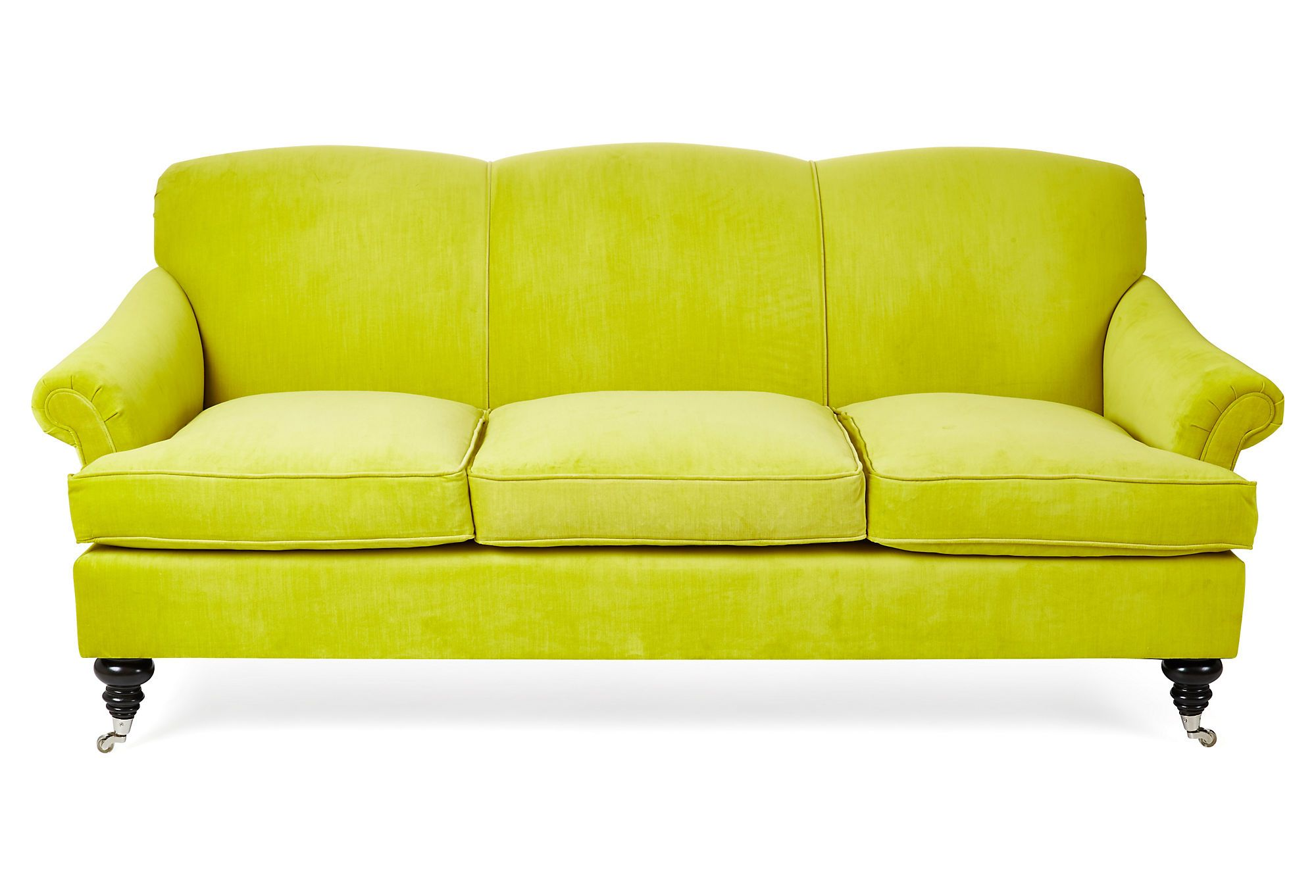Citrus Sofa Go For It Sofa Yellow Furniture Velvet Sofa
