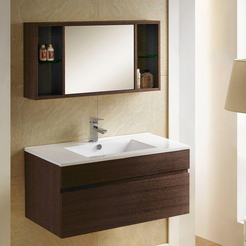 33 Dimitri Wall Mount Vanity And Mirrored Storage Modern Vanities Bathroom Vanities Bathroom Wall Mounted Vanity Modern Bathroom Vanity Bathroom Vanity [ 1500 x 1500 Pixel ]