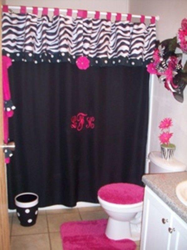 Beau Pink And Zebra Bathroom