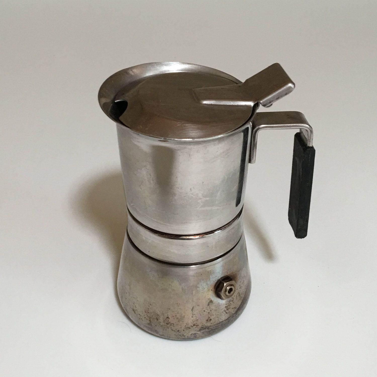 Pin On Vintage Vev Espresso Coffee Maker Stainless Steel 18 10 Italy