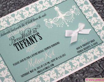 Bridal Shower Invitation Audrey Hepburn Breakfast Theme Invites Personalized Wedding Customizable