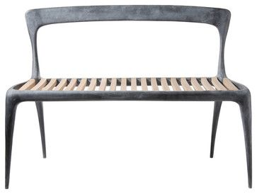 Cast Aluminum Bench By John Reeves Contemporary Patio Furniture And Outdoor Abc Carpet Home