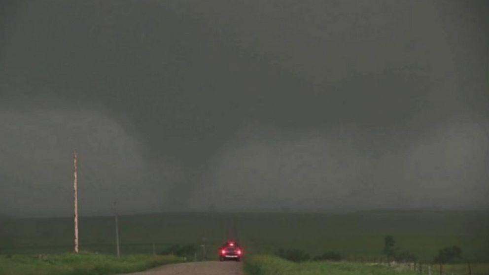 Video: Twin Twisters Caught on Camera. Two tornadoes spotted in Crow Lake, South Dakota. 06/18/2014