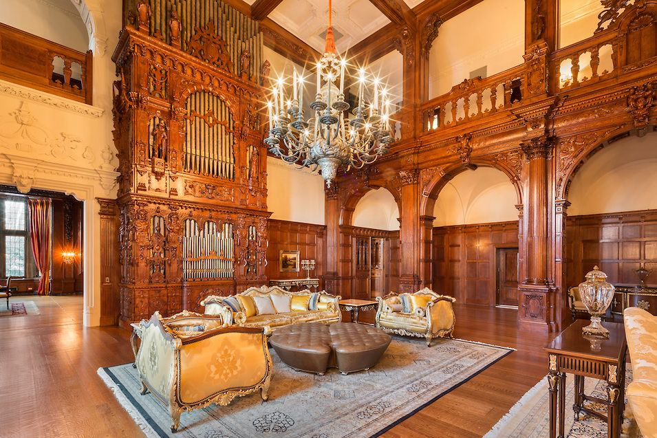 The Crocker Mansion in Mahwah, New Jersey, a 55,000 square foot single family home built by architect James Brite in 1908. It is on the Nati...