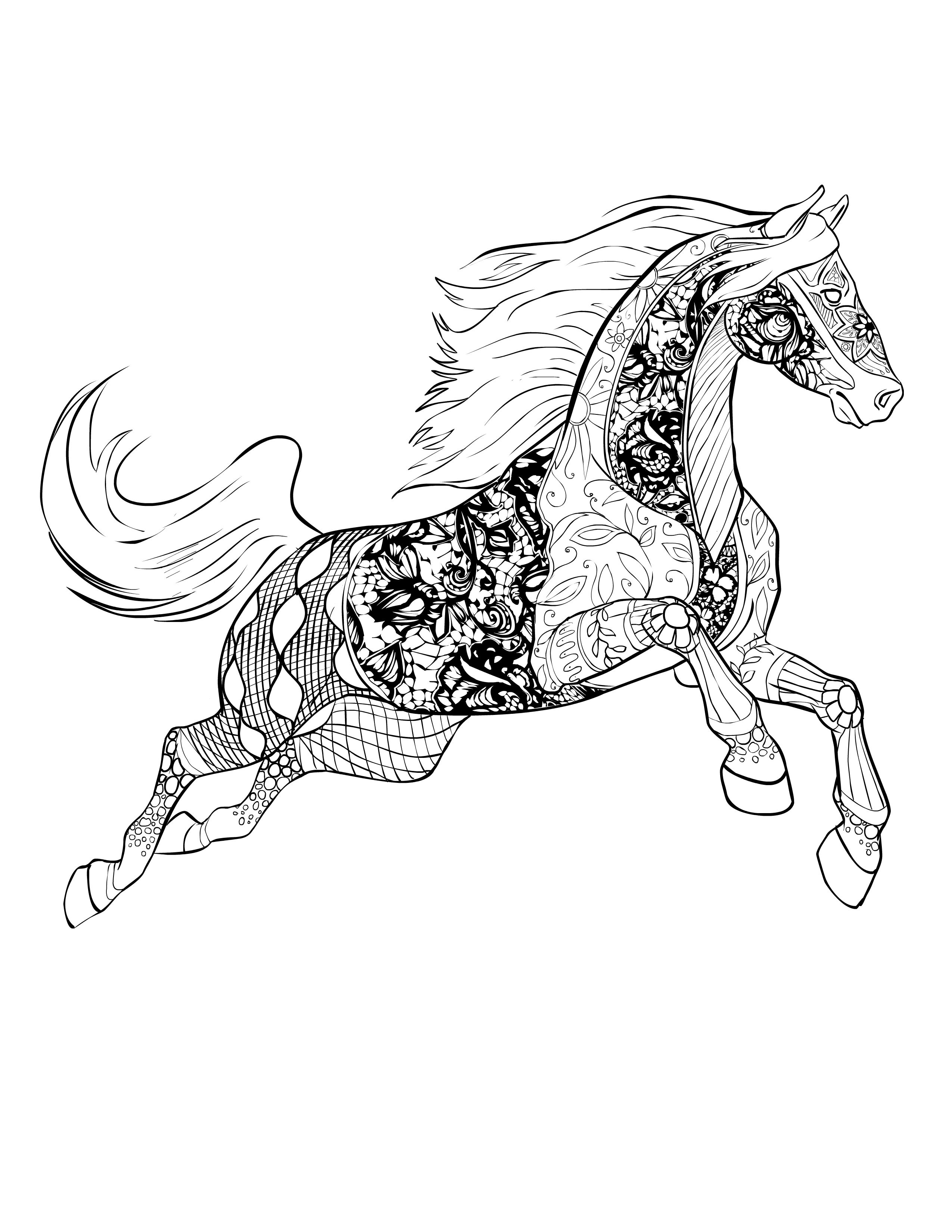 Horse Free Download Selah Works Davlin Publishing Adultcoloring