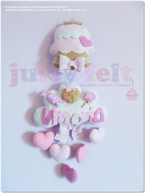 feltro Juicy: Felt Juicy ... não só flocos de nascimento!