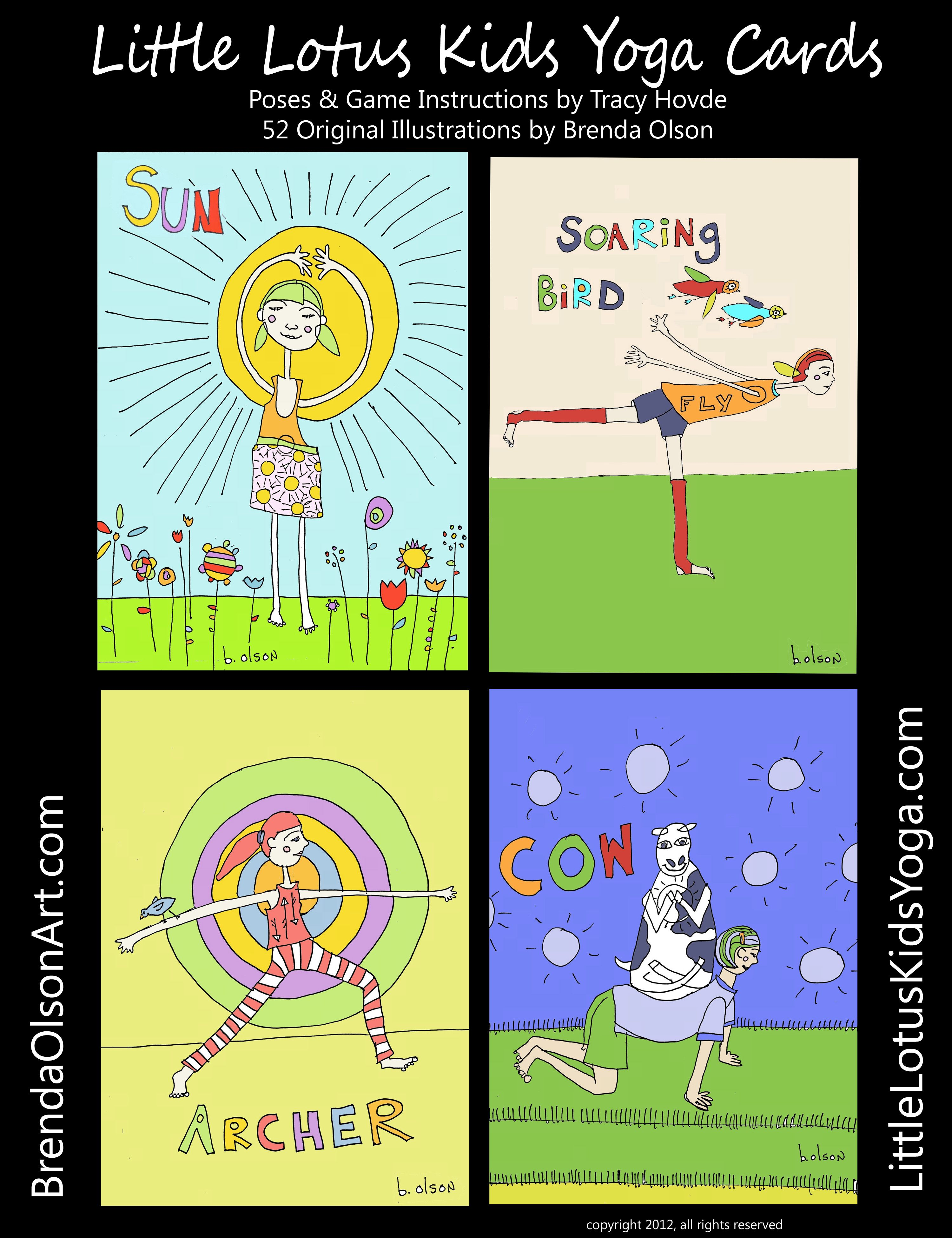 LIttle Lotus Kids Yoga Cards Include 39 Poses Fun Games For
