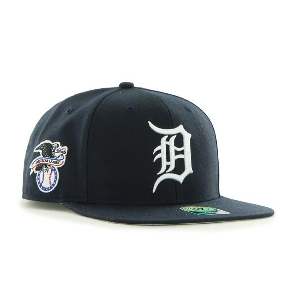 competitive price f6684 4b557 Detroit Tigers 47 Brand Navy Sure Shot Snapback Adjustable Hat