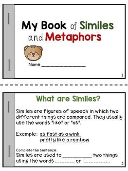 This product will help students identify similes and metaphors and
