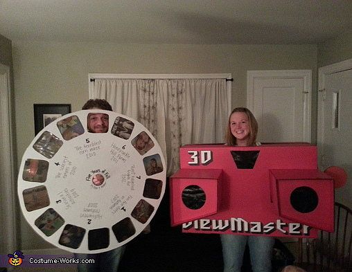 Love it! Halloween couples costume: 3D Viewmaster and Slide Reel