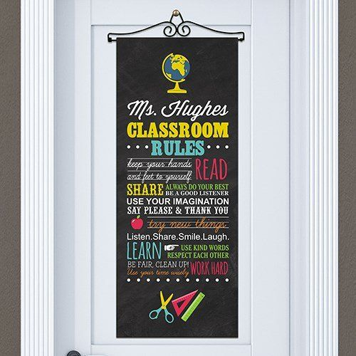 GiftsForYouNow Classroom Rules Personalized Door Banner * Want additional info? Click on the image. & GiftsForYouNow Classroom Rules Personalized Door Banner * Want ...