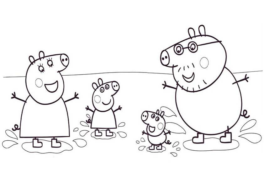 Dibujos Para Pintar Online Peppa Pig Peppa Pig Para Colorear Com