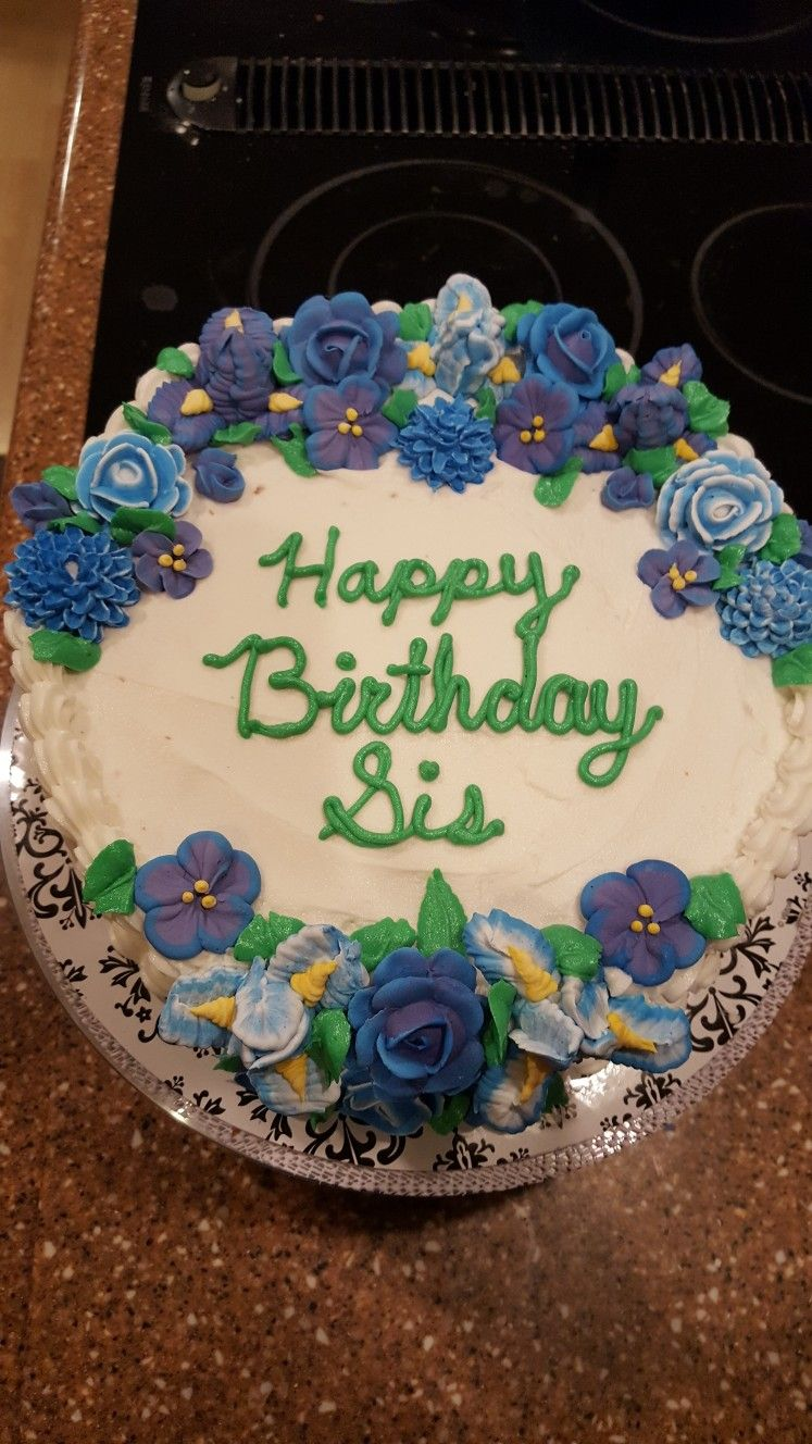 Sisters 51st Birthday Cake First Attempt Making An Iris