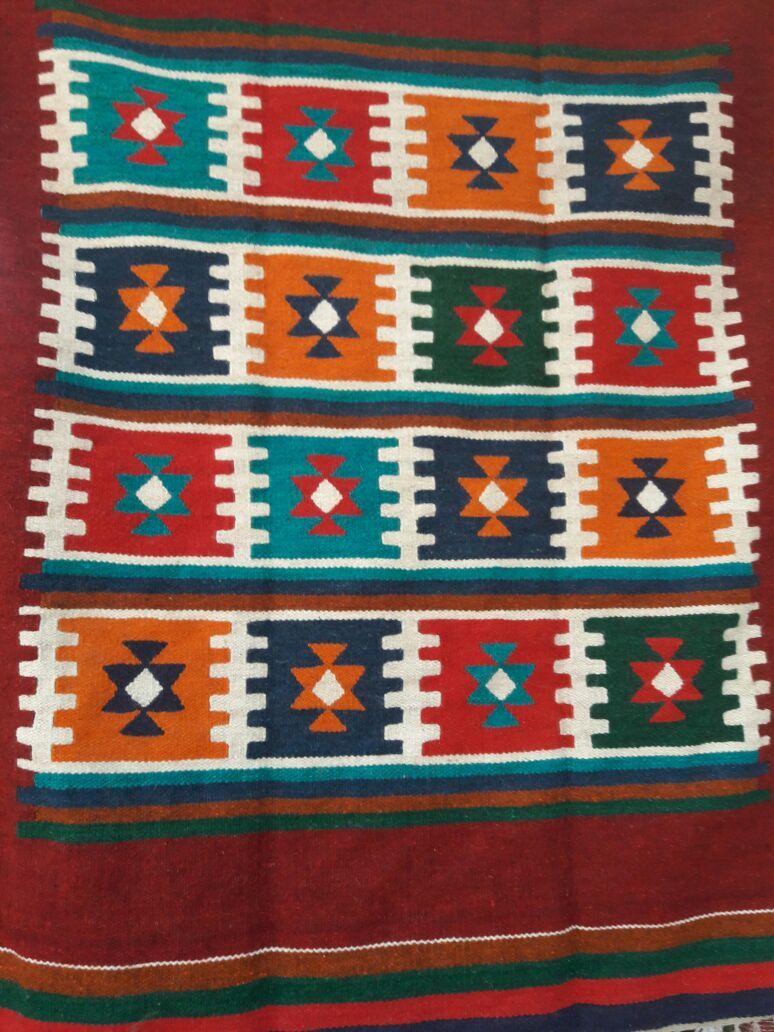 سجاد كليم يدوى مربعات الوان هاندميد من الصوف Quilts Oriental Decor