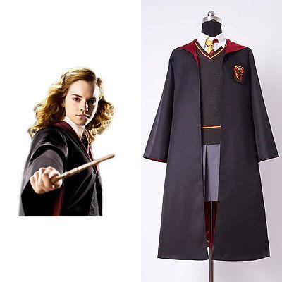 Harry Potter Hermione Granger Cosplay Costume Gryffindor Child Uniform Dress Kid Mit Bildern Harry Potter Hermine Granger Harry Potter Kostum Harry Potter Kleidung