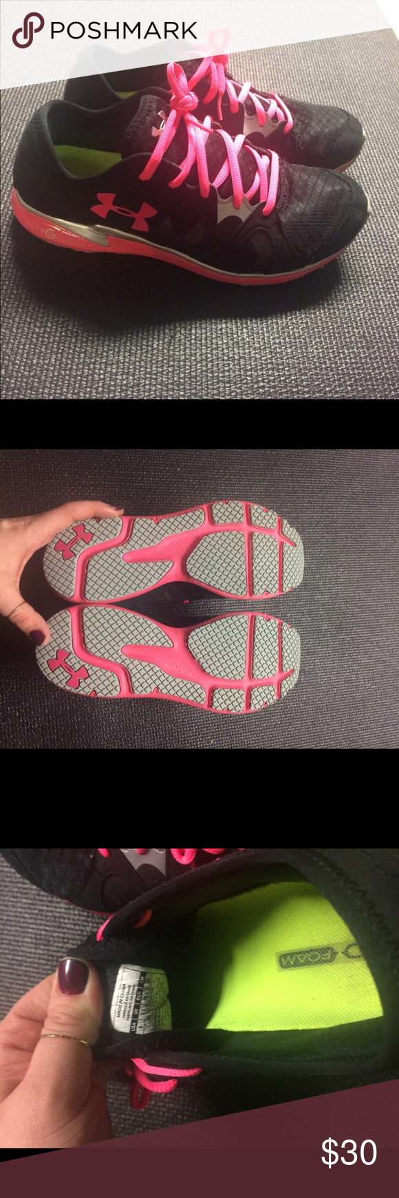 Selling this Underarmor women's sneaker pink /black. Size 9 on Poshmark! My username is: jkm5017. #shopmycloset #poshmark #fashion #shopping #style #forsale #Shoes
