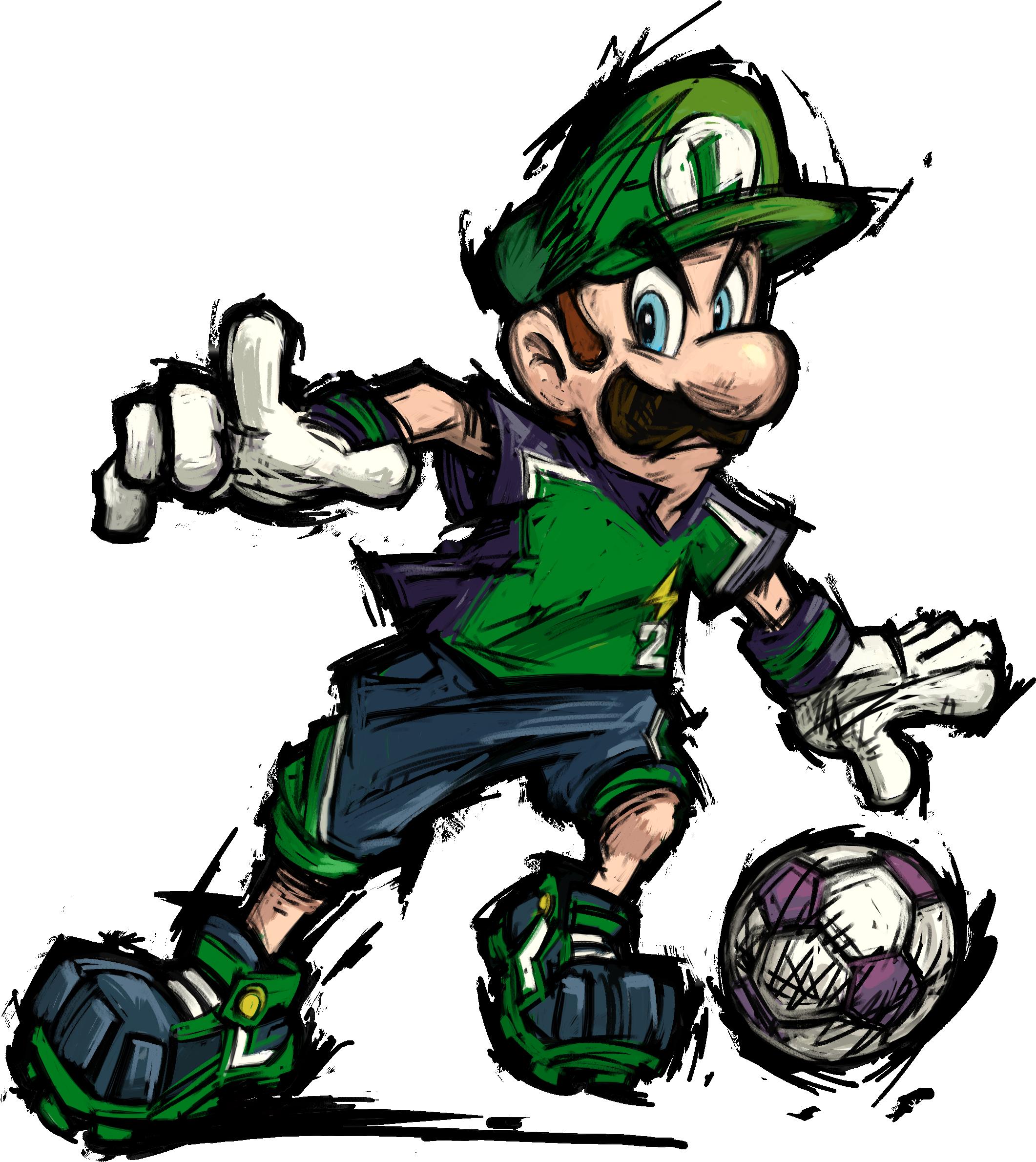 Luigi mario strikers charged nintendo pinterest mario for Mario strikers coloring pages