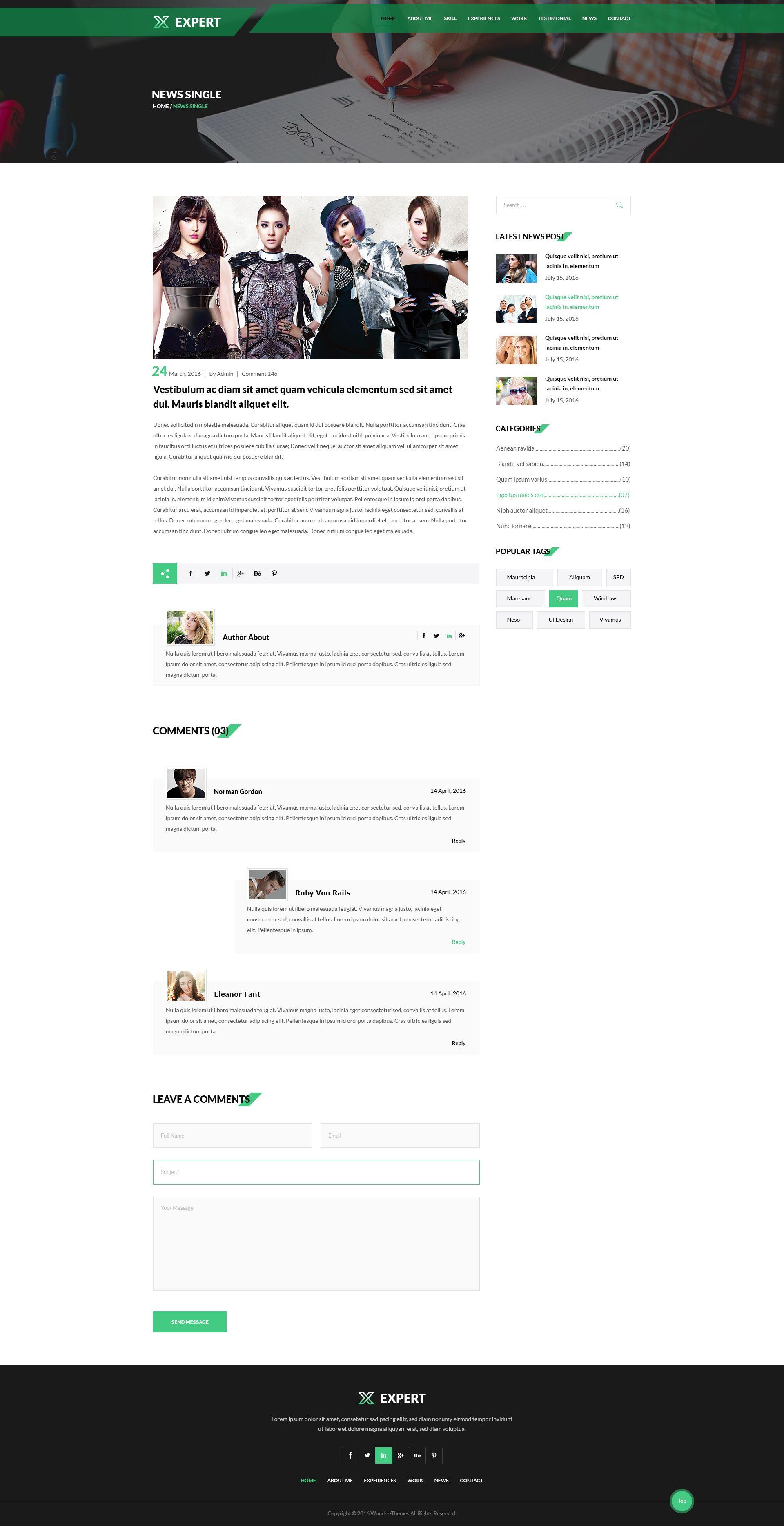 Expert_personal profileresume psd template psd