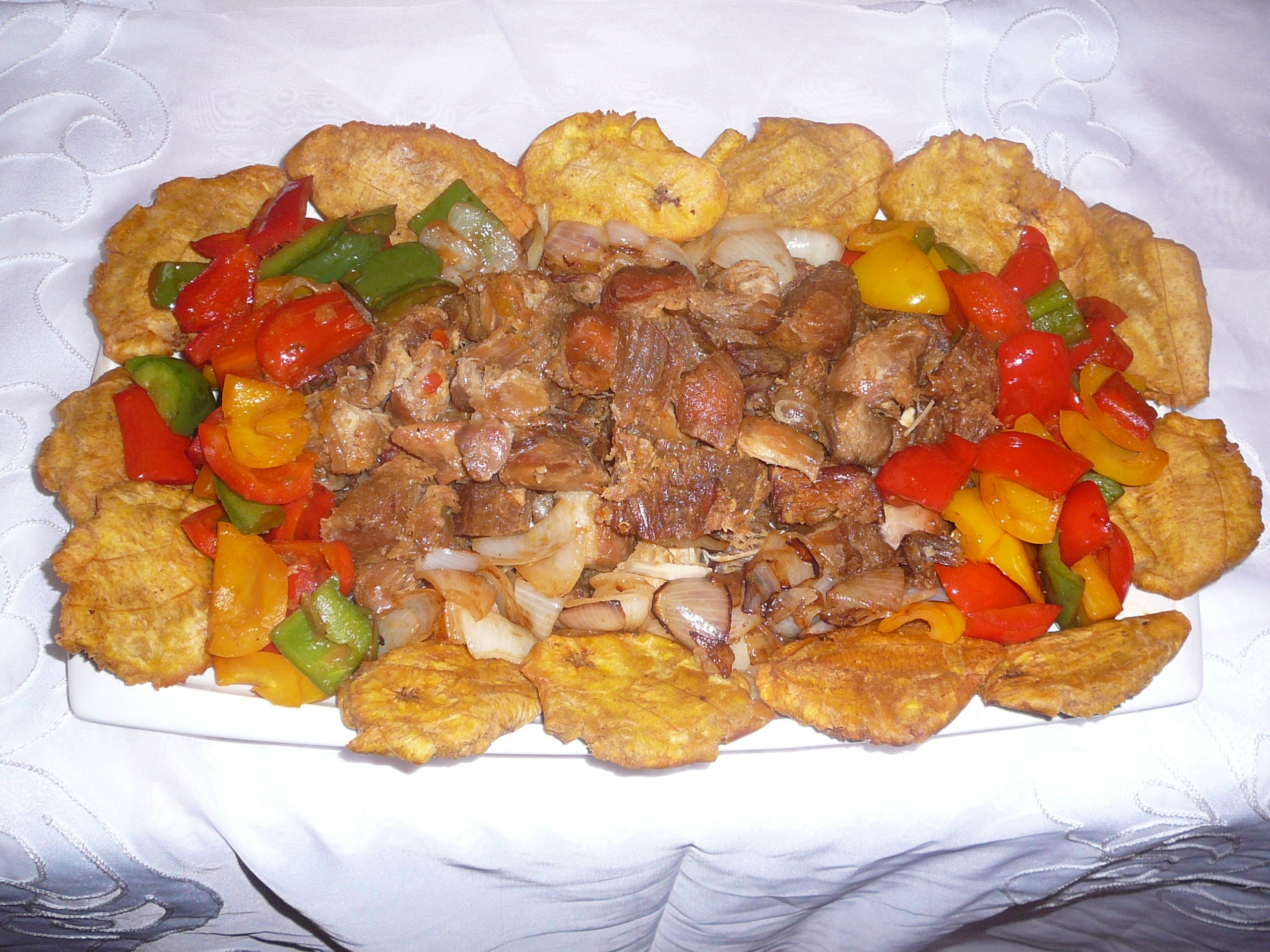 Delicious! Fried pork (Griot) and fried plantains (Banan ...