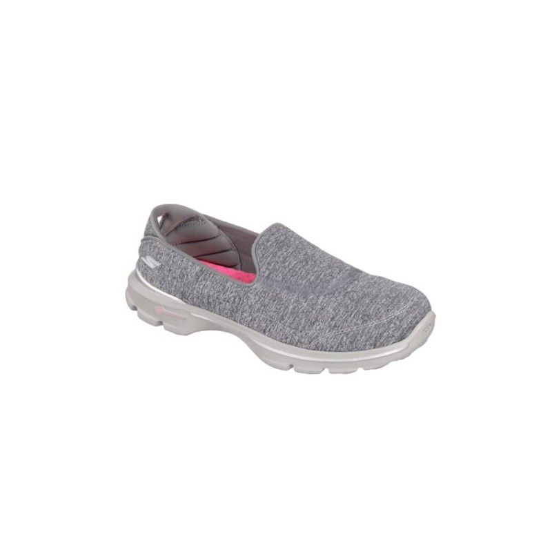 dead0aac2883 Women s SKETCHERS GOWalk 3 Balance Walking Shoes in Grey Textile -  Available at Becker Shoes