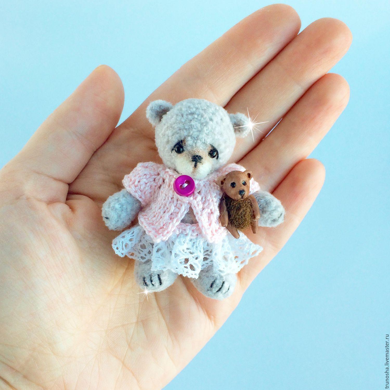 Купить Мишка с Мишкой - бледно-розовый, мишка крючком ...