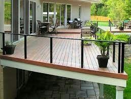 Plexiglass deck railing   Glass railing deck, Aluminum ...