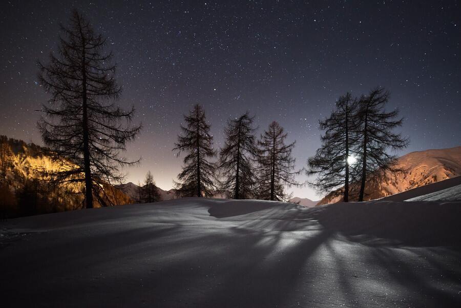 Mir Foto On Twitter Night Landscape Winter Wallpaper Landscape Wallpaper