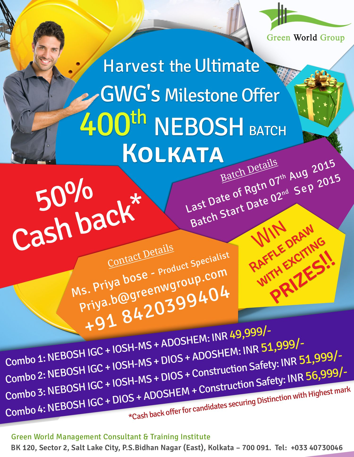 Gwg Announce Combo Pack Offer For Nebosh Igc Course In Kolkata At