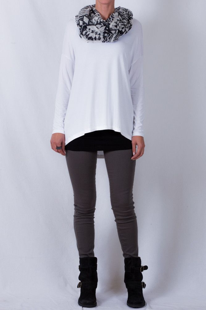 City Lights Super Slouch Tee in White