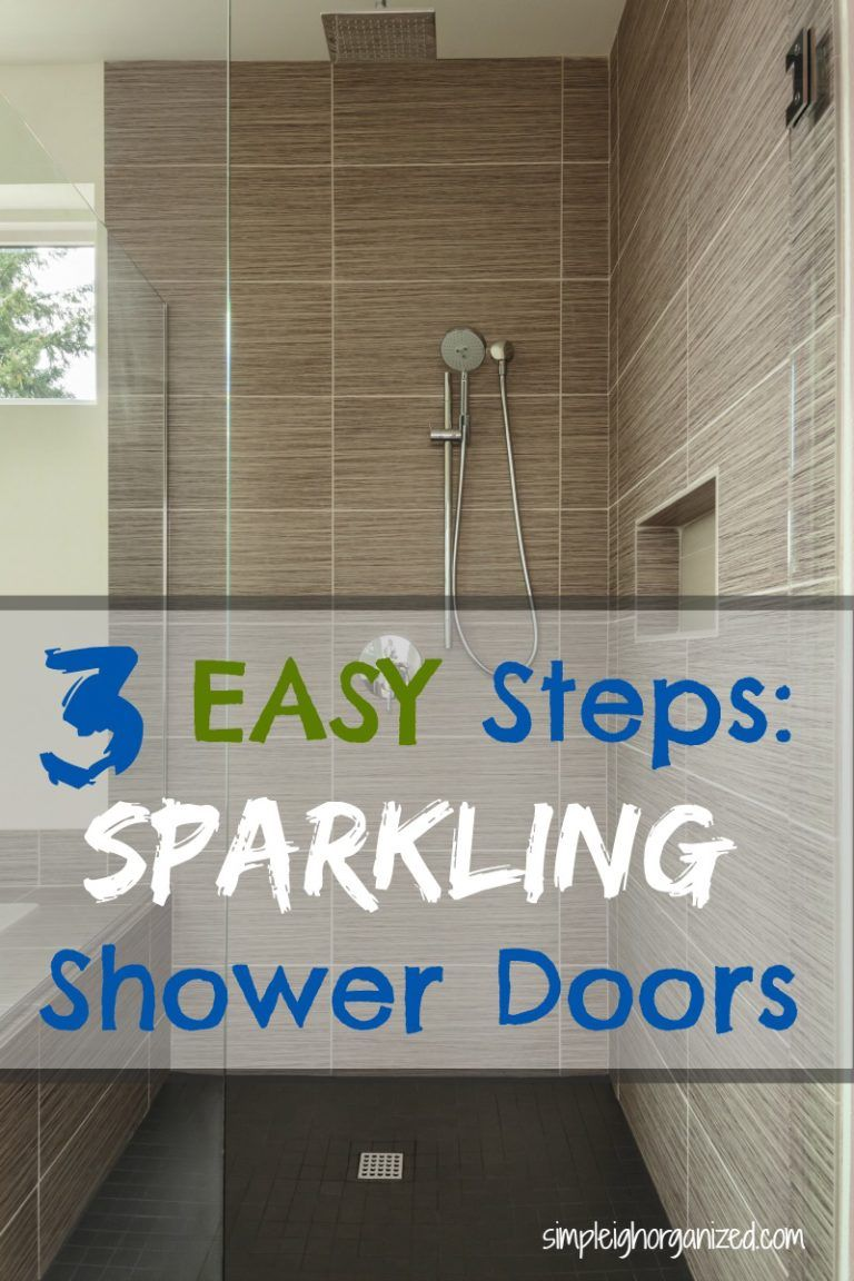 3 Easy Steps To Clean Your Shower Doors Living On A Dime Money