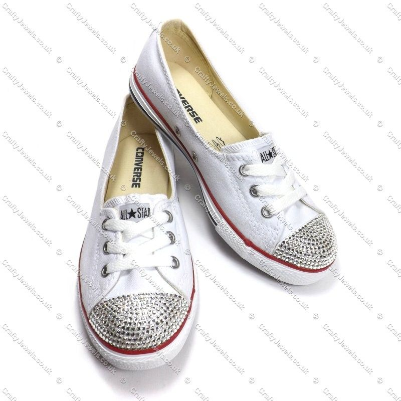 Swarovski or Diamante Crystal Converse Dance Lace. Wonder could I do this myself?!