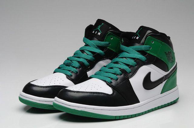 sneakers for cheap 2cb07 2a2f8 Nike Air Jordan 1 Retro Black Green White Shoes