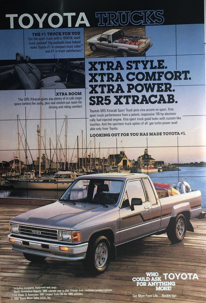 1987 Toyota Trucks Vintage Magazine Ad From National