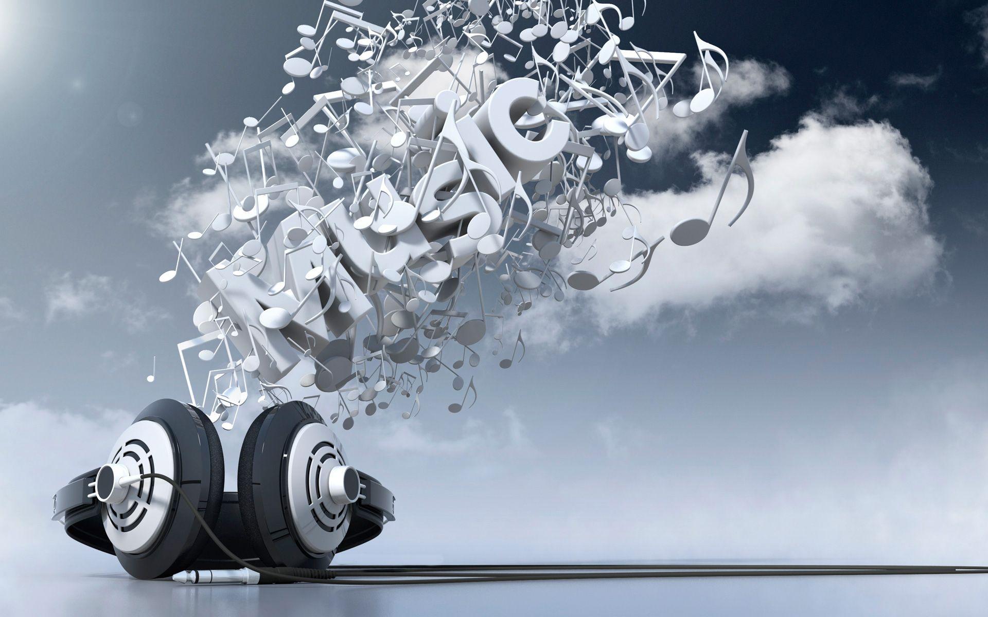 3D Music HD Widescreen Desktop Wallpaper