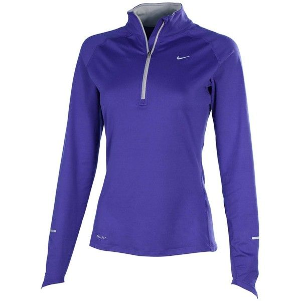 fe301e60 Amazon.com: Nike Women's Element Half Zip Running Shirt-Royal... ($45) ❤  liked on Polyvore featuring activewear, royal blue shirt, blue shirt, nike  shirts, ...