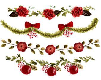 Digital Christmas Borders Clip Art