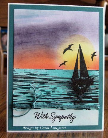 I made this sympathy card a while ago and never posted it. Then a day ago someone wanted 2 sympathy cards, so I made a couple more followi...