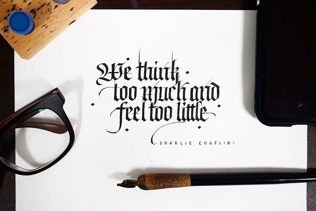 Instagram feed calligraphy typography and fonts