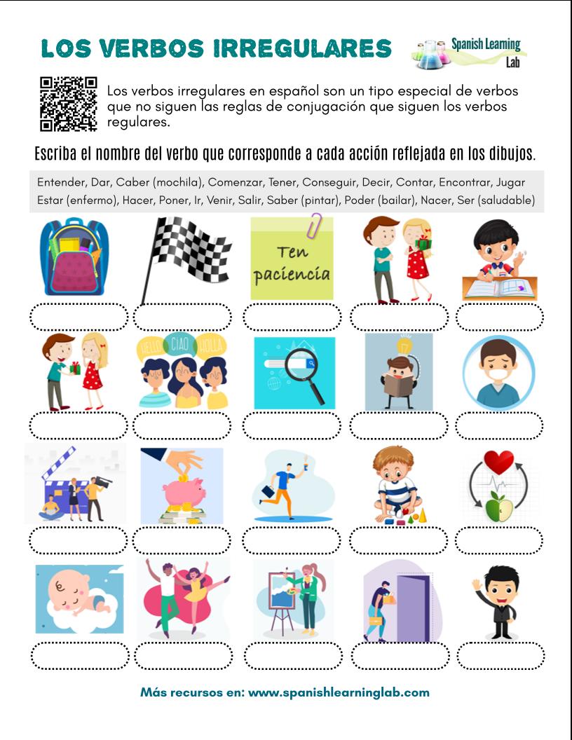 Common Irregular Verbs In Spanish Pdf Worksheet Irregular Verbs Verb Worksheets Spanish [ 1056 x 816 Pixel ]