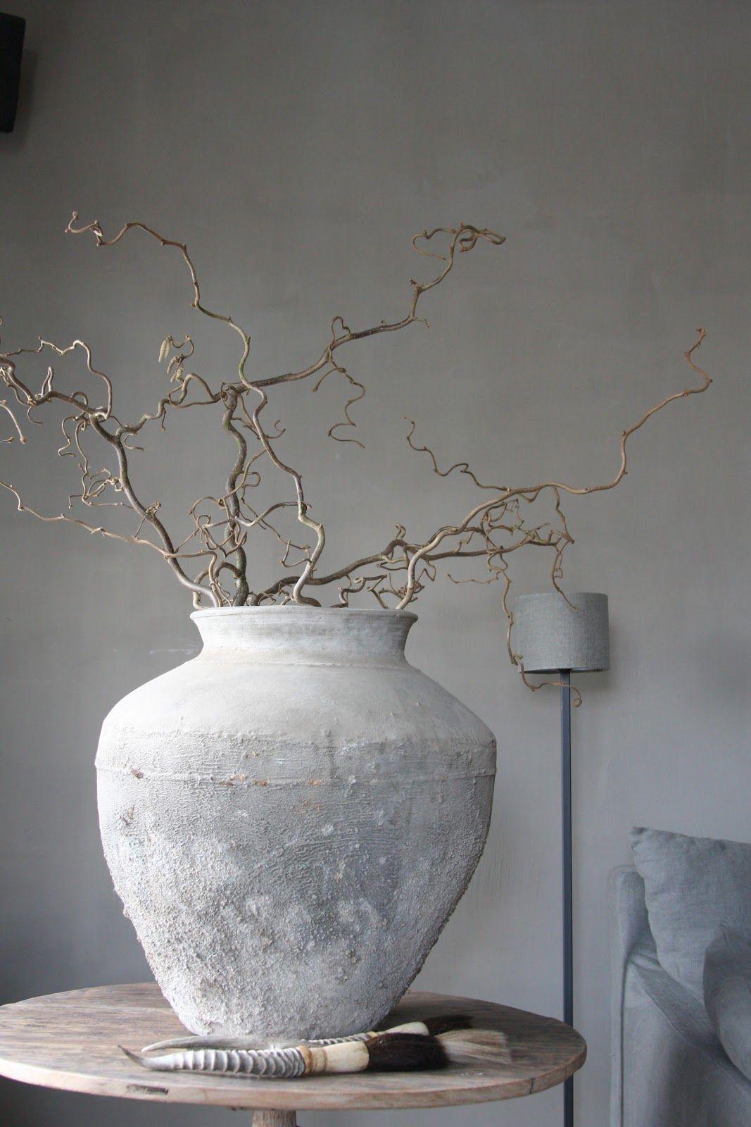 stoere pot met cement auch den lampenschirm mit gipsputz. Black Bedroom Furniture Sets. Home Design Ideas
