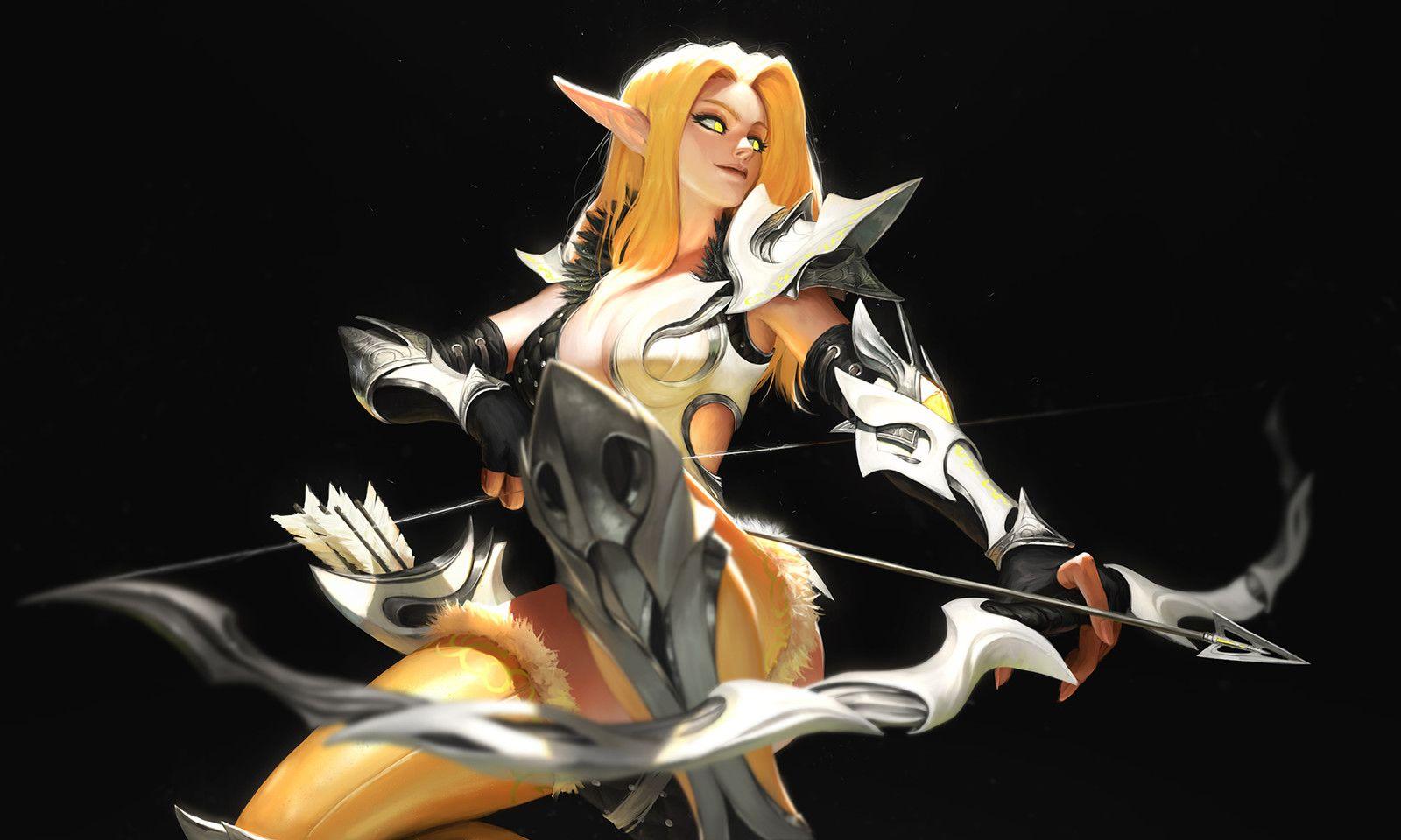 Elf Archer, SYAR . on ArtStation at https//www.artstation