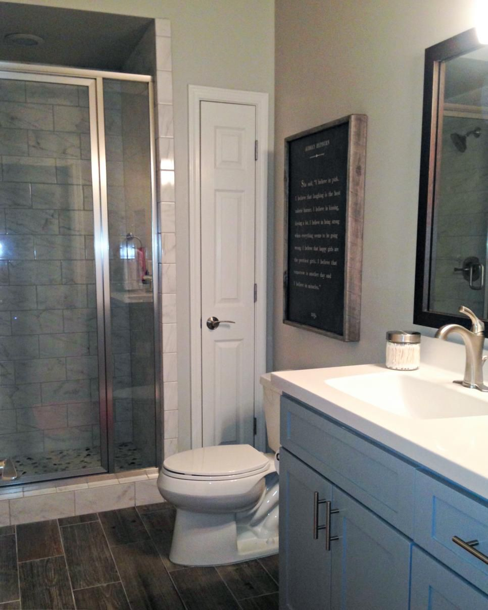Redo Your Bath Style Higher Design Transitional Style And Hgtv - Redo your bathroom on a budget