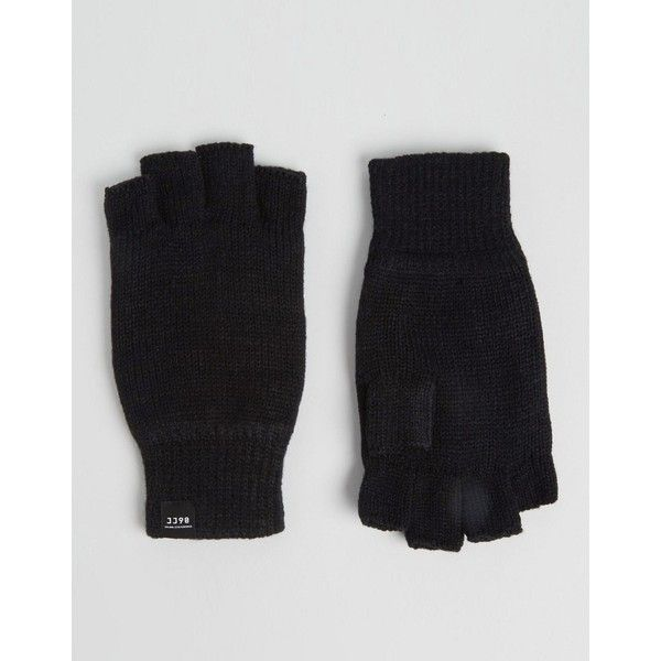 Jack & Jones Gloves Fingerless (73 BRL) ❤ liked on Polyvore featuring men's fashion, men's accessories, men's gloves, black and mens fingerless gloves