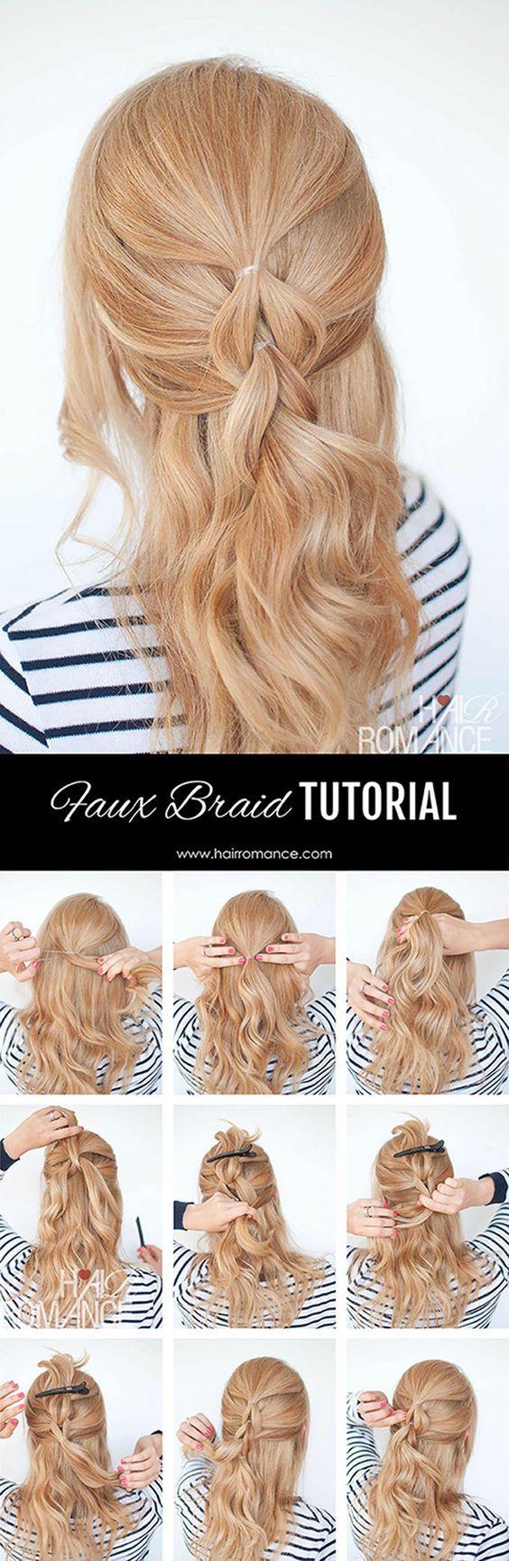 easy half up half down hairstyles step by step hair