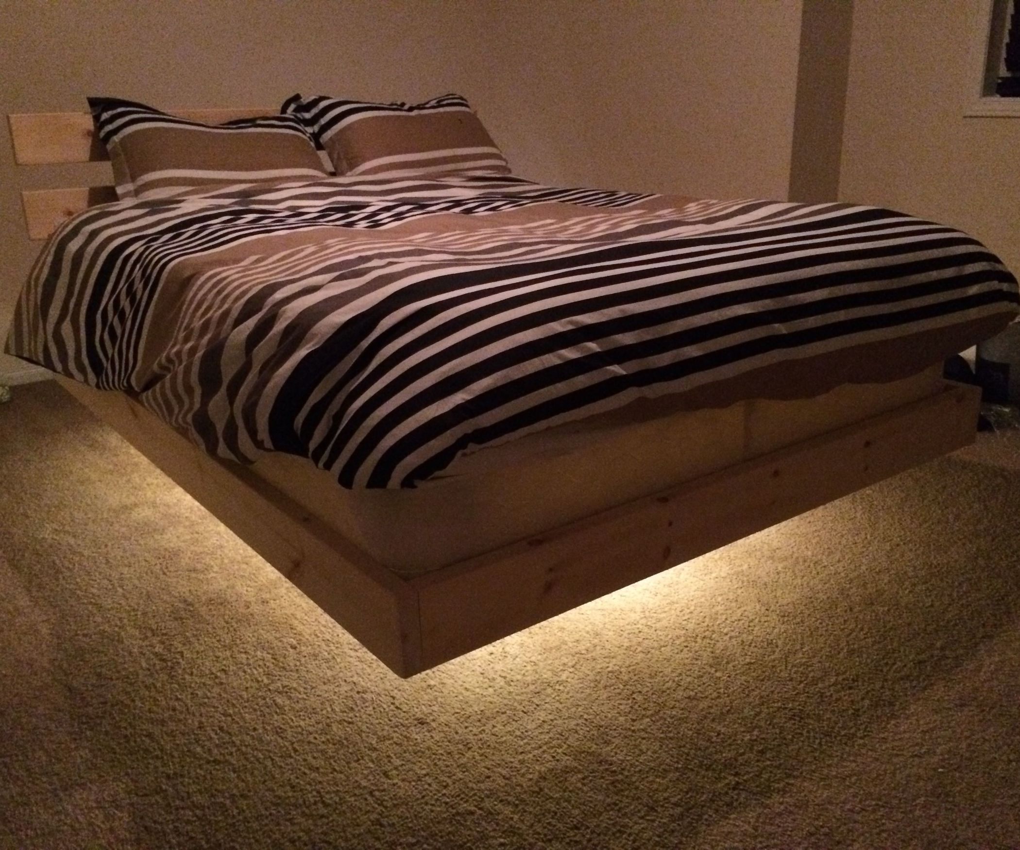 Groundfx Bed Floating Bed Frame Woodworking Projects Bed Bed Frame