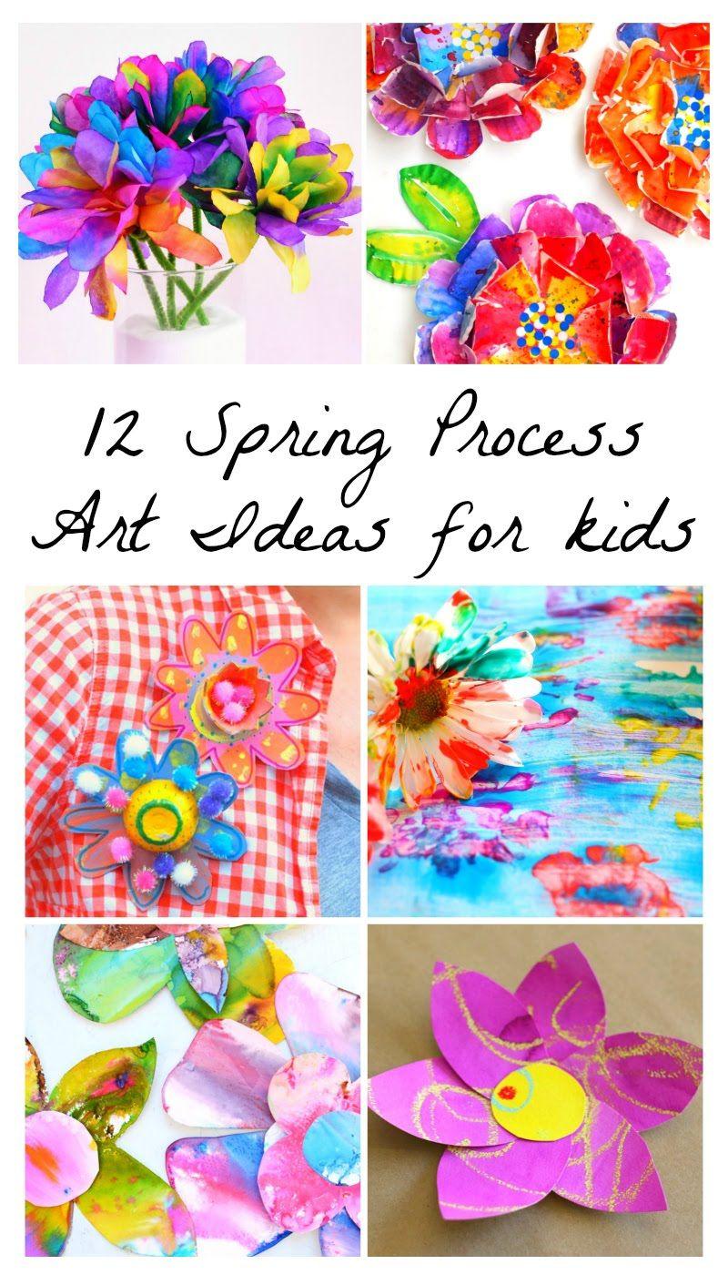 12 Beautiful Spring Flower Process Art Ideas For Kids Preschool