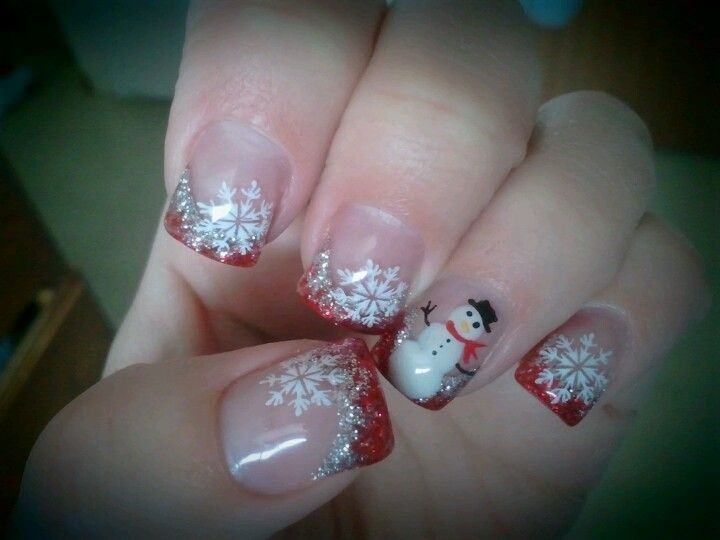 Christmas gel nails hairnails pinterest christmas gel nails christmas gel nails prinsesfo Gallery