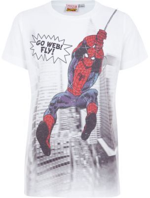 485c170c1 River Island Boys white go web fly Spiderman print t-shirt on shopstyle.co. uk